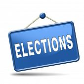 stock photo of democracy  - elections free election for new democracy local national voting poll - JPG
