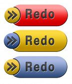 Redo or refresh button