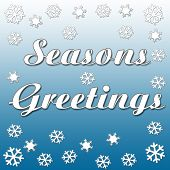 seasons greetings snowfall