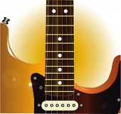 image of stratocaster  - A traditional solid body electric guitar in close up - JPG