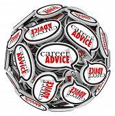 Career Advice Words Speech Bubbles Job Help Tips
