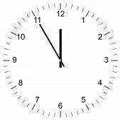 Clock Illustration 11:00