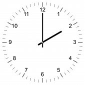 Clock Illustration 2:00