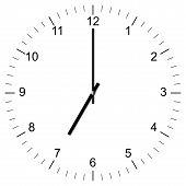 Clock Illustration 7:00