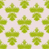 Simple, elegant block printed vector pattern