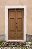 Wooden Door With Stone Frame