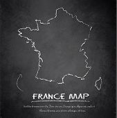 France map blackboard chalkboard vector