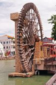 The Old Port's Water Wheel In Malacca