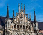 Munich, Gothic City Hall Facade Details