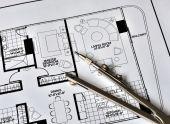 ein Kompass oben auf die Residence floorplan