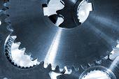 foto of titanium  - titanium gears and cogs used in the Aerospace industry - JPG