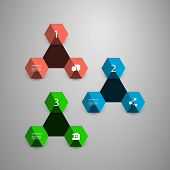 Infographic Concept with Hexagons - Colorful Design