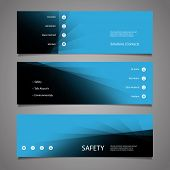 Web Design Elements - Abstract Blue Header Design