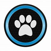pic of dog tracks  - Dog paw icon as a symbol of dog paw - JPG
