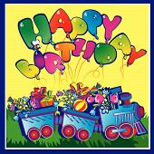 Happy birthday train.