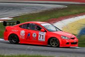 SEPANG, MALAYSIA - MAY 10, 2014:The Honda Integra car of Supachai Weeraborwornpong takes to the trac