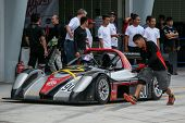 SEPANG, MALAYSIA - MAY 10, 2014: The race car of Vignesa Moorthy returns to the pit lane after the f