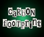 Carbon Footprint Concept.