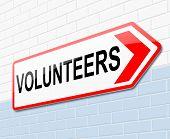 Volunteers Concept.