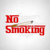 Poster, banner or flyer design for World No Tobacco Day with stylish text No Smoking and cigarette o