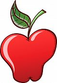 Appetizing red apple