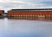 Finland. Imatra. Hydroelectric power station building