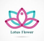 yoga, zen, meditation, lotus flower icon, colorful vector element and symbol