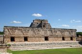 stock photo of quadrangles  - Ruins of the Nunnery Quadrangle Uxmal Mexico - JPG