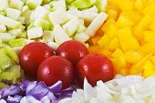 image of grils  - Arrangement of the various vegetable - JPG