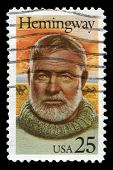 Ernest Hemmingway Us Postage Stamp