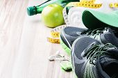 Running Shoes And Fitness Equipment