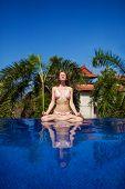 Meditating. Woman Doing Yoga