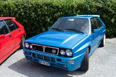 Blue Lancia Delta Martini Racing