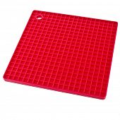 Red Kitchen silicone place mat hot dishes close up isolated on white background