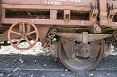 old freight train, metal machinery details
