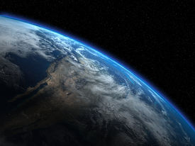 image of planet earth  - High quality 3d render of the planet Earth - JPG