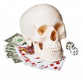 Skull On Money And Cards