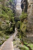 The Narrow Path Among High Rocks