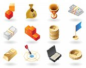 Isometric-style Icons For Awards