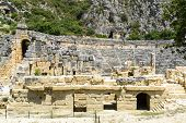 DEMRE, TURKEY - September 16, The ancient Greco-Roman theater in  Lycian city of Myra, Turkey.