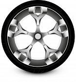 wheel car vector