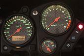 Modern motorcycle dashboard.