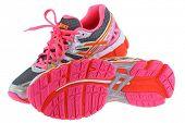 BANGKOK, THAILAND - JULY 2014 : ASICS Gel Kayano 20 Running shoes on 25 July 2014 in Bangkok, Thailand. Kayano 20 has a 2-layered sole with Gel cushioning.