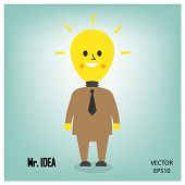 Cartoon and businessman icon, business concept.