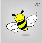 pic of bee cartoon  - bee icon - JPG