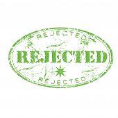 Rejected grunge rubber stamp