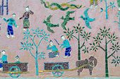 pic of thong  - Mosaics at Red chapel at Wat Xieng Thong temple complex in Luang Prabang Laos - JPG