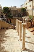 image of cardo  - Ruins of the ancient Roman street Cardo Jerusalem Israel - JPG