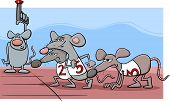 foto of rats  - Cartoon Humor Concept Illustration of Rat Race Saying or Proverb - JPG