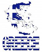 Greece map flag and text illustration